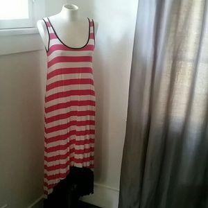 Kensie Striped High Low Dress